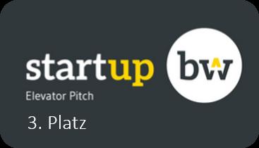 Startup BW Elevator Pitch 3. Platz