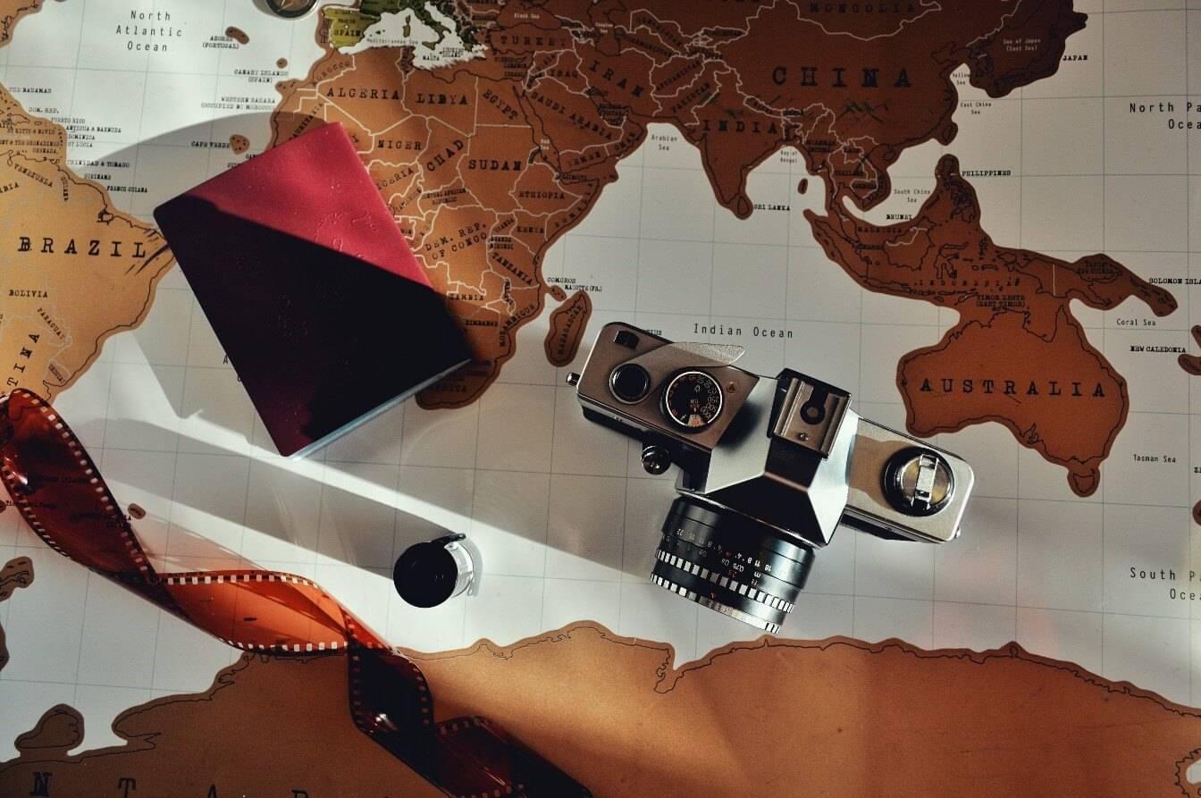 Weltreise planen die Schritte