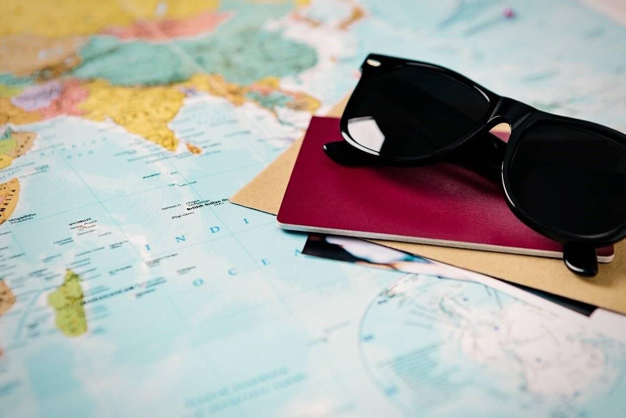Weltreise planen die Dokumente