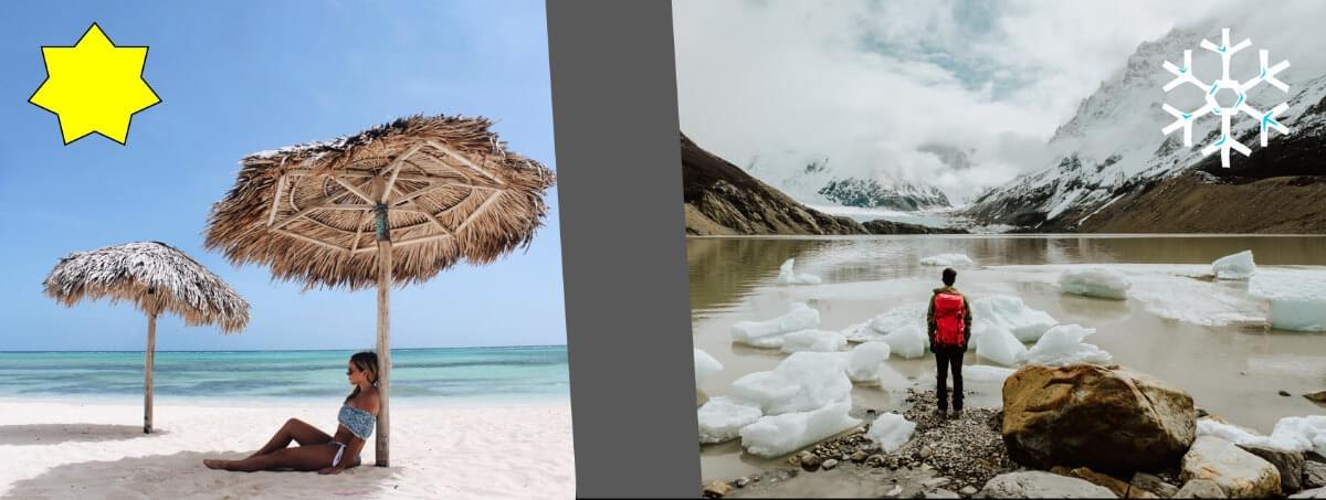 Reiseplaner für Strand- oder Alpenurlaub